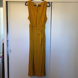 Ava and Viv 1x gold mustard tank dress NWT